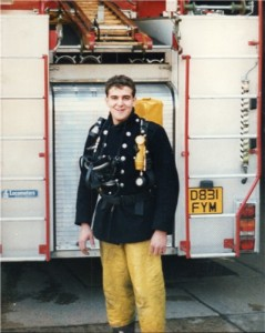 Me in 1988 at Bethnal Green sire station,